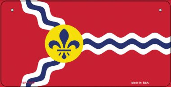 St. Louis State Flag Missouri Wholesale Novelty Metal Bicycle Plate BP-12043