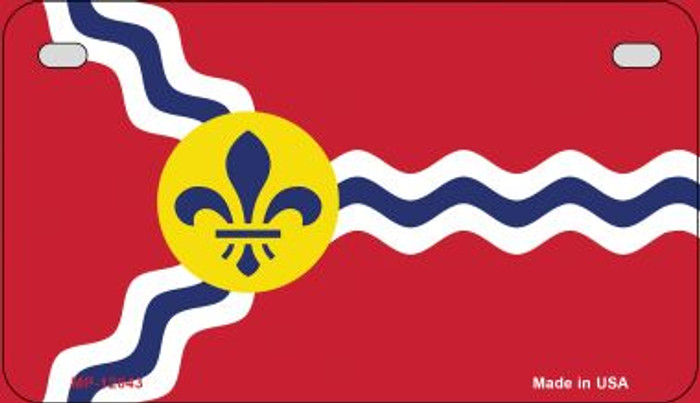 St. Louis State Flag Missouri Wholesale Novelty Metal Motorcycle Plate MP-12043
