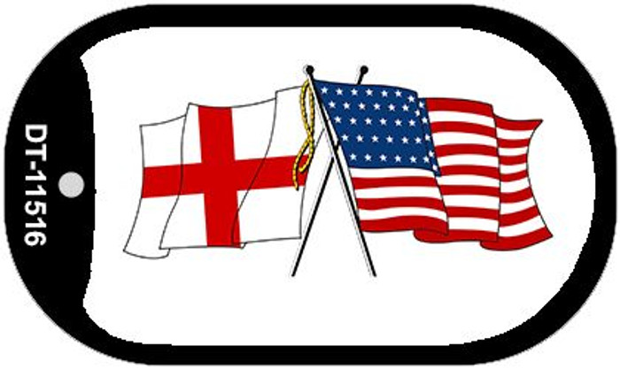England / USA Flag Wholesale Novelty Metal Dog Tag Necklace DT-11516