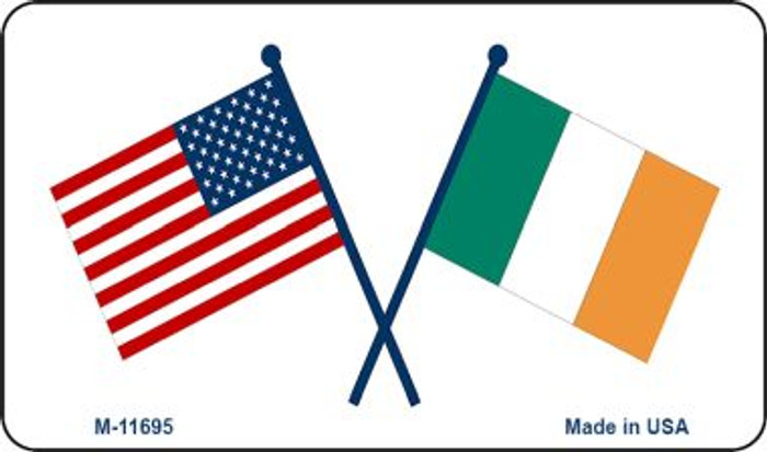 USA / Ireland Flag Wholesale Novelty Metal Magnet M-11695