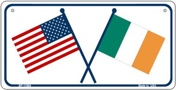 USA / Ireland Flag Wholesale Novelty Metal Bicycle Plate BP-11695