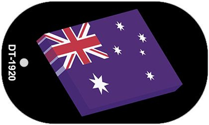 Australia 3-D Flag Wholesale Novelty Metal Dog Tag Necklace DT-1920
