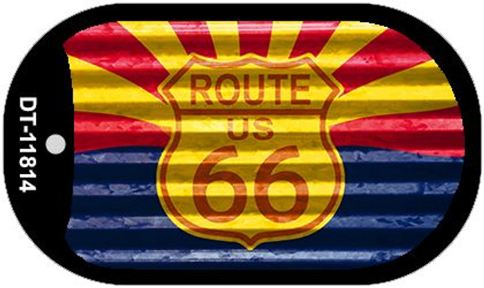 Arizona Route 66 Corrugated Wholesale Novelty Metal Dog Tag Necklace DT-11814