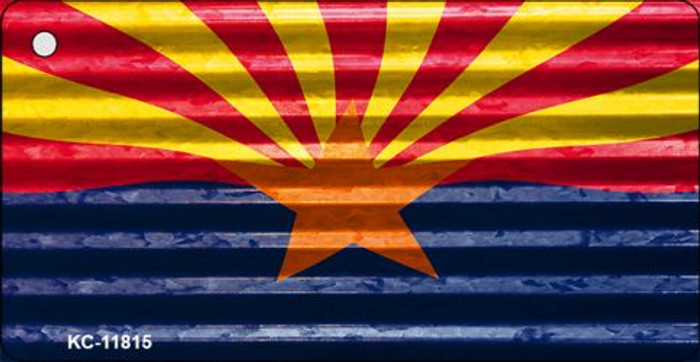 Arizona Flag Corrugated Wholesale Novelty Metal Key Chain KC-11815