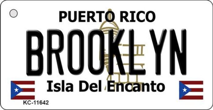 Brooklyn Puerto Rico Wholesale Novelty Metal Key Chain KC-11642