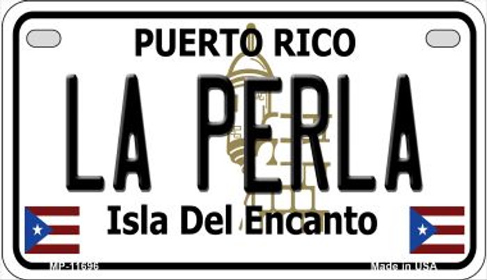La Perla Puerto Rico Wholesale Novelty Metal Motorcycle Plate MP-11696