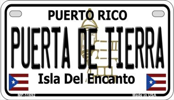 Puerta De Tierra Puerto Rico Wholesale Novelty Metal Motorcycle Plate MP-11692