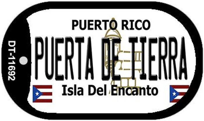 Puerta De Tierra Puerto Rico Wholesale Novelty Metal Dog Tag Necklace DT-11692