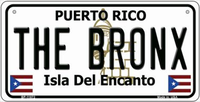 The Bronx Puerto Rico Wholesale Novelty Metal Bicycle Plate BP-11872