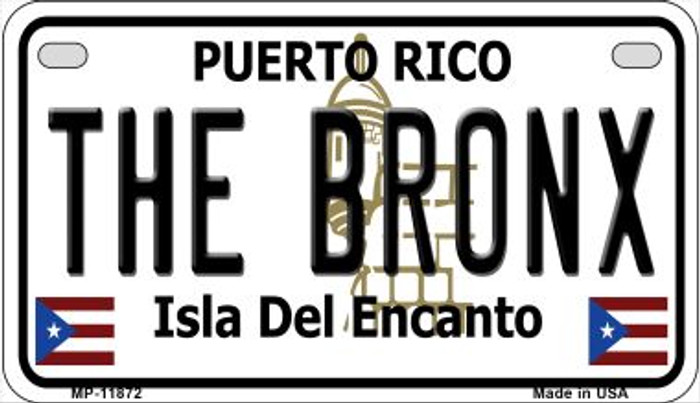 The Bronx Puerto Rico Wholesale Novelty Metal Motorcycle Plate MP-11872