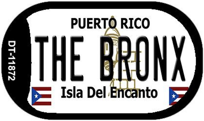 The Bronx Puerto Rico Wholesale Novelty Metal Dog Tag Necklace DT-11872