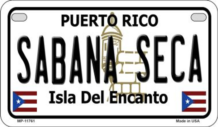 Sabana Seca Puerto Rico Wholesale Novelty Metal Motorcycle Plate MP-11761