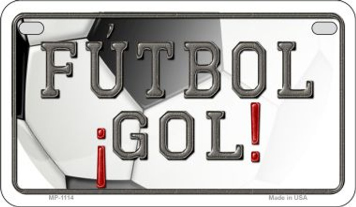 Futbol Gol Wholesale Novelty Metal Motorcycle Plate MP-1114