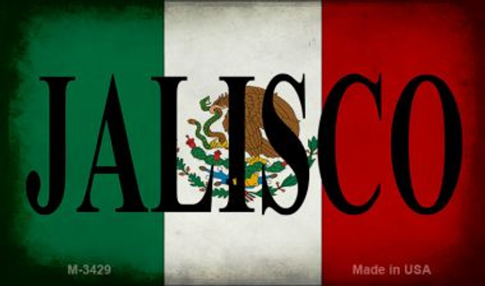 Jalisco Mexico Flag Wholesale Novelty Metal Magnet M-3429