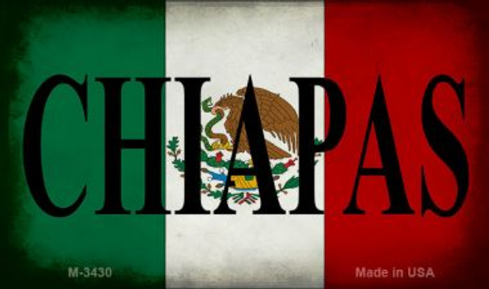 Chiapas Mexico Flag Wholesale Novelty Metal Magnet M-3430