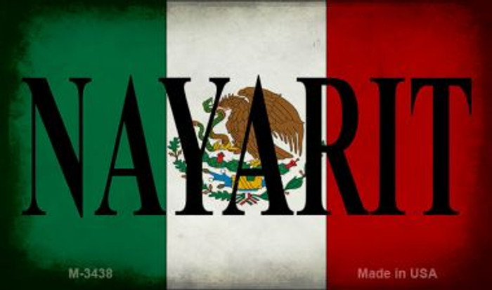 Nayarit Mexico Flag Wholesale Novelty Metal Magnet M-3438