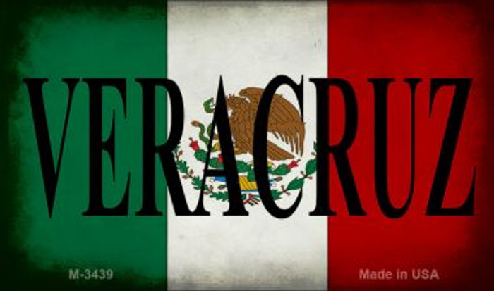 Veracruz Mexico Flag Wholesale Novelty Metal Magnet M-3439