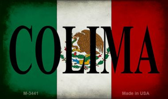Colima Mexico Flag Wholesale Novelty Metal Magnet M-3441