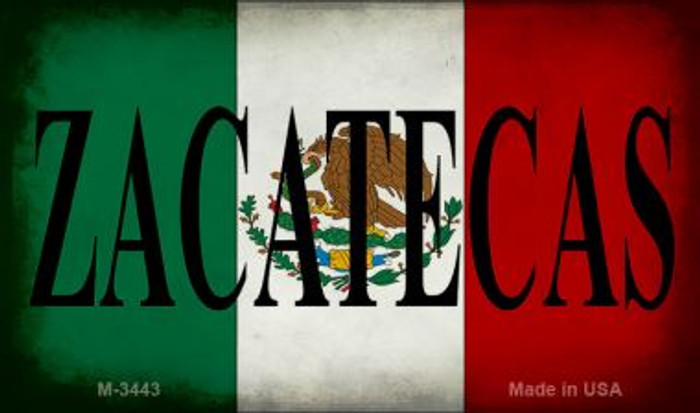 Zacatecas Mexico Flag Wholesale Novelty Metal Magnet M-3443