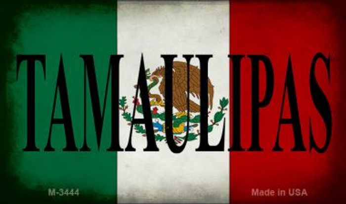 Tamaulipas Mexico Flag Wholesale Novelty Metal Magnet M-3444