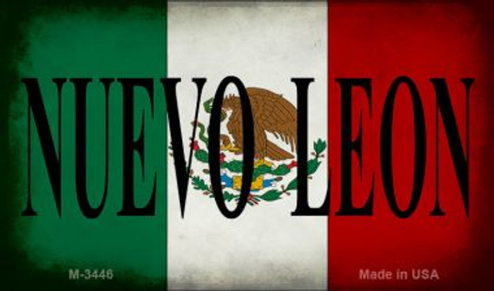 Nuevo Leon Mexico Flag Wholesale Novelty Metal Magnet M-3446
