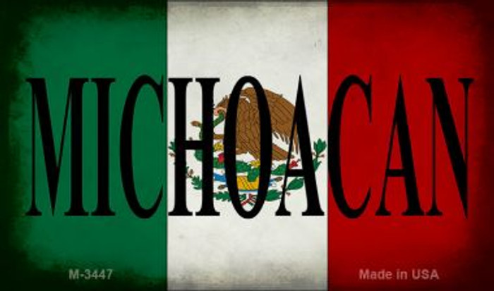 Michoacan Mexico Flag Wholesale Novelty Metal Magnet M-3447