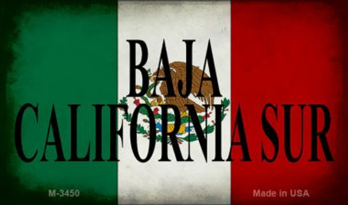 Baja California Sur Mexico Flag Wholesale Novelty Metal Magnet M-3450