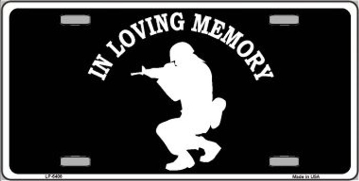 In Loving Memory Squatting Novelty Wholesale Metal License Plate