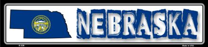Nebraska State Outline Wholesale Novelty Metal Vanity Mini Street Sign K-326