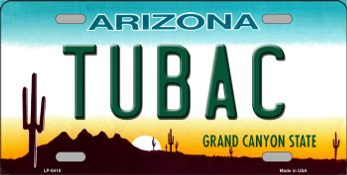 Tubac Arizona Novelty Wholesale Metal License Plate LP-5415