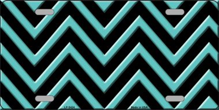 Tiffany Blue Chevron Wholesale Metal Novelty License Plate LP-5424