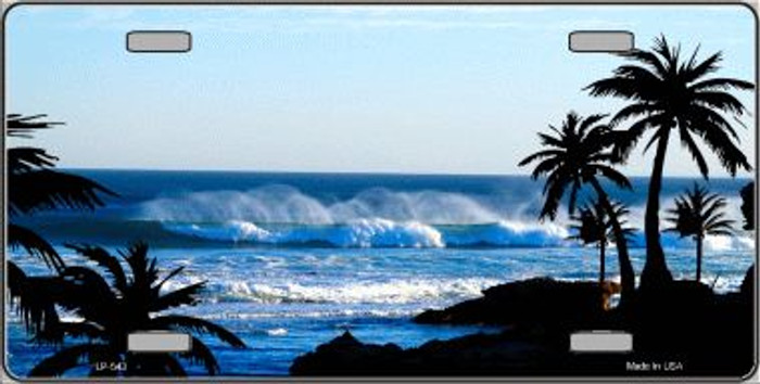 Ocean Wave Wholesale Metal Novelty License Plate LP-543