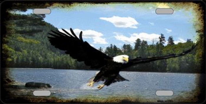 Eagle Over Water Novelty Wholesale Metal License Plate