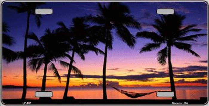 Sunset Hammock Wholesale Metal Novelty License Plate LP-557