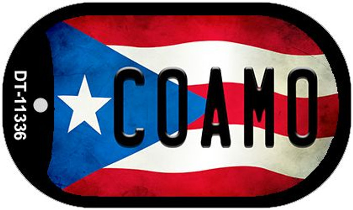 Coamo Puerto Rico State Flag Wholesale Novelty Metal Dog Tag Necklace DT-11336