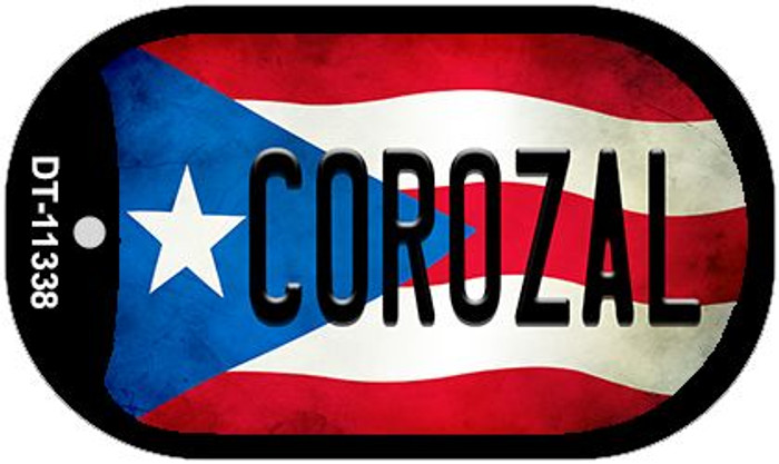 Corozal Puerto Rico State Flag Wholesale Novelty Metal Dog Tag Necklace DT-11338