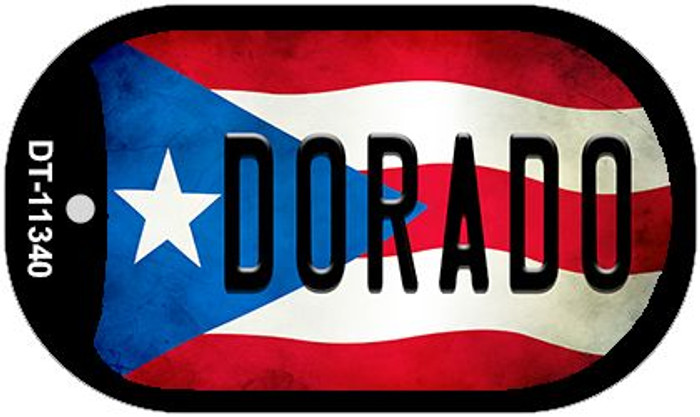 Dorado Puerto Rico State Flag Wholesale Novelty Metal Dog Tag Necklace DT-11340