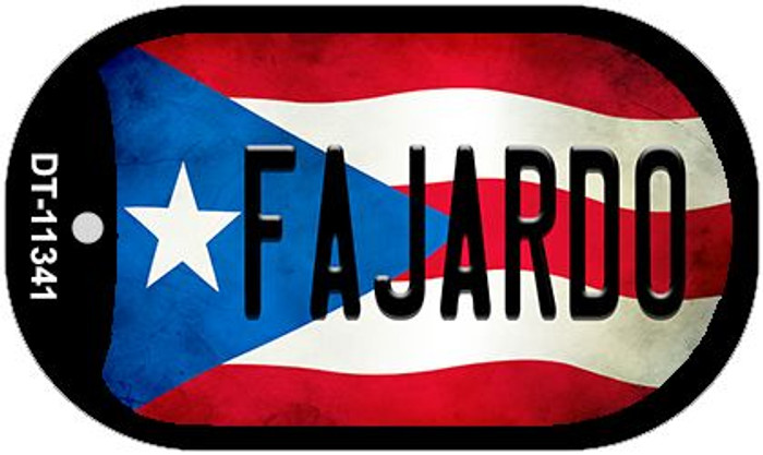 Fajardo Puerto Rico State Flag Wholesale Novelty Metal Dog Tag Necklace DT-11341