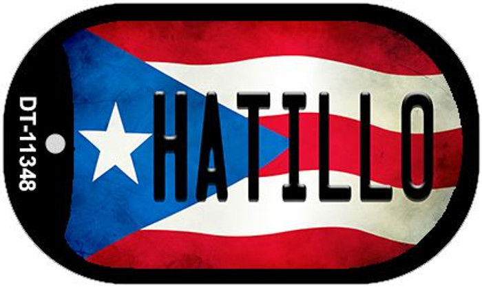 Hatillo Puerto Rico State Flag Wholesale Novelty Metal Dog Tag Necklace DT-11348