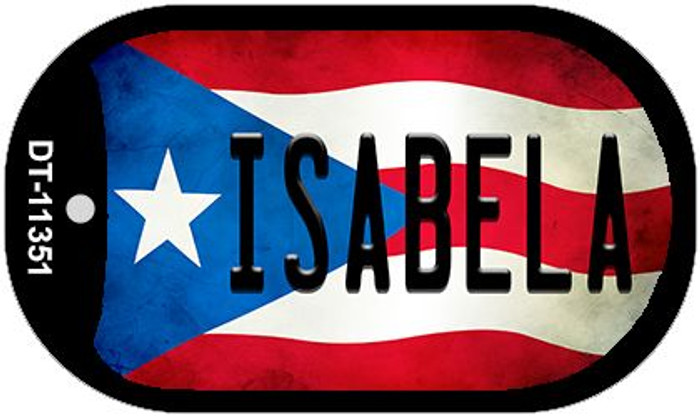 Isabela Puerto Rico State Flag Wholesale Novelty Metal Dog Tag Necklace DT-11351