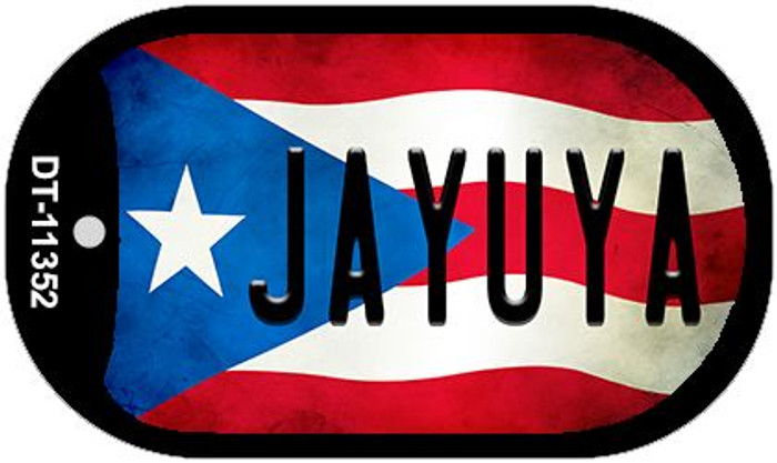 Jayuya Puerto Rico State Flag Wholesale Novelty Metal Dog Tag Necklace DT-11352