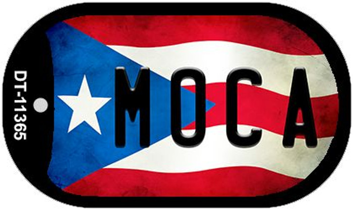 Moca Puerto Rico State Flag Wholesale Novelty Metal Dog Tag Necklace DT-11365