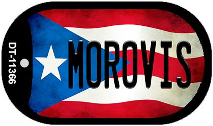 Morovis Puerto Rico State Flag Wholesale Novelty Metal Dog Tag Necklace DT-11366