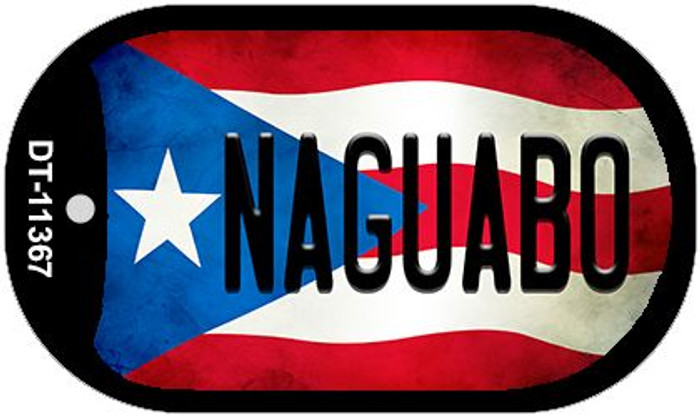 Naguabo Puerto Rico State Flag Wholesale Novelty Metal Dog Tag Necklace DT-11367
