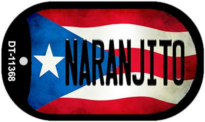 Naranjito Puerto Rico State Flag Wholesale Novelty Metal Dog Tag Necklace DT-11368