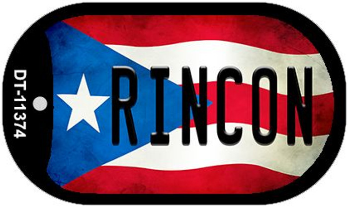 Rincon Puerto Rico State Flag Wholesale Novelty Metal Dog Tag Necklace DT-11374