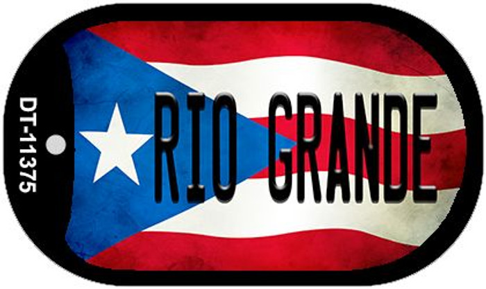 Rio Grande Puerto Rico State Flag Wholesale Novelty Metal Dog Tag Necklace DT-11375