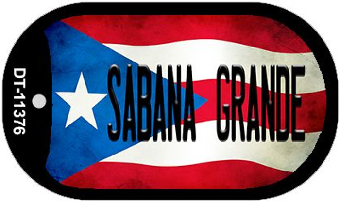 Sabana Grande Puerto Rico State Flag Wholesale Novelty Metal Dog Tag Necklace DT-11376