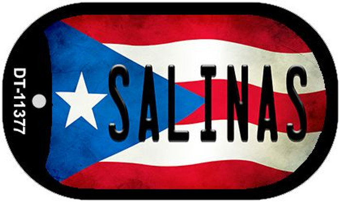 Salinas Puerto Rico State Flag Wholesale Novelty Metal Dog Tag Necklace DT-11377