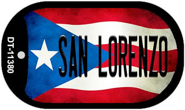 San Lorenzo Puerto Rico State Flag Wholesale Novelty Metal Dog Tag Necklace DT-11380